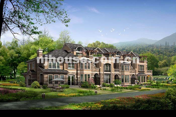 山水豪宅风景图